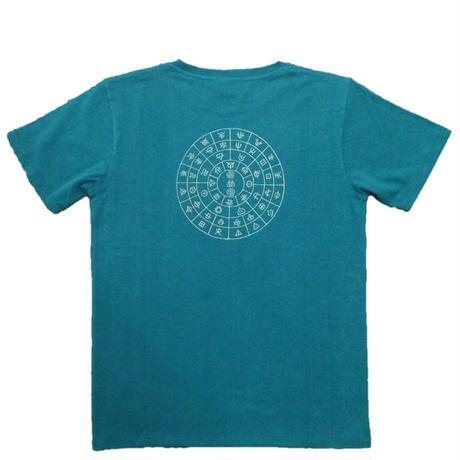 【Tシャツ】ふとまに1 麻生地 グリーン 姫川薬石インク