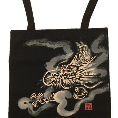 【手描き商品】トートバック 龍1 黒