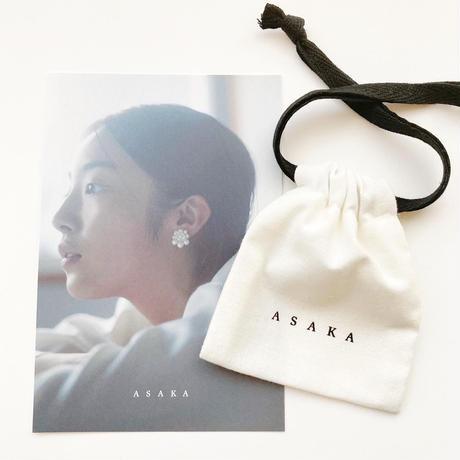 rain chain black earring/pierce