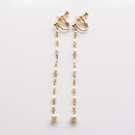 Pearls  Long Earring