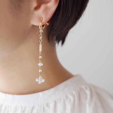 rain chain aurola earring/pierce