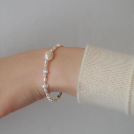 melange bracelet color.white