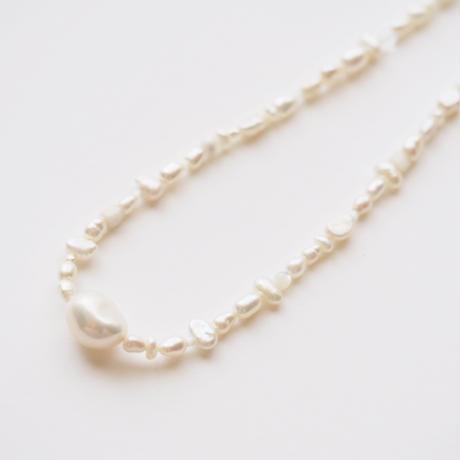 melange necklace col.white