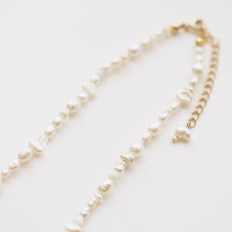 melange necklace col.pastel