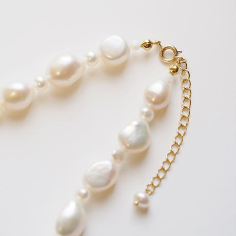 baroque pearls necklace col.white