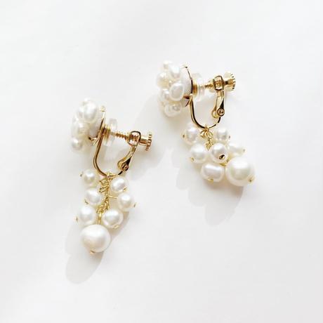 pearls s earring/pierce