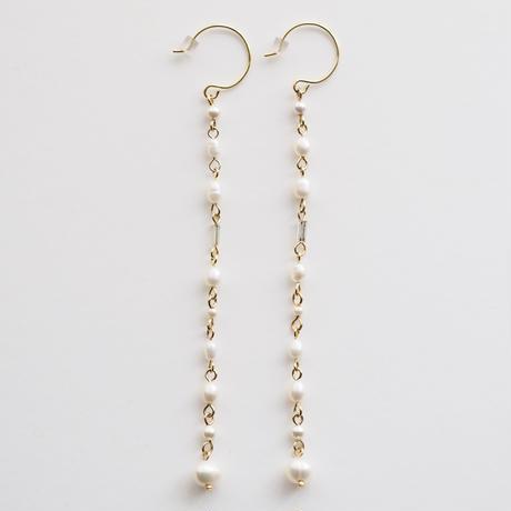 rain chain pearls earring/pierce
