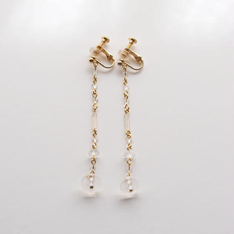 Crystal Aurola beads Long Earring