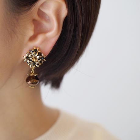 bouquet czech beads  earring/pierce