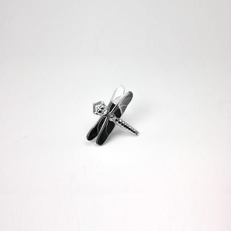 銀製ピンブローチ トンボ 小 磨き
