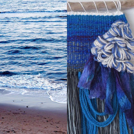weaving 糸で色を作る-水面-(S)