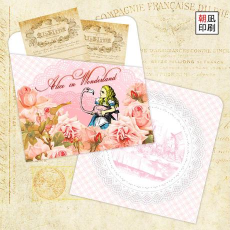 アリスのペーパーポケット(フラミンゴとお茶会)