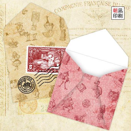 小さな不思議の国のアリスの封筒セット