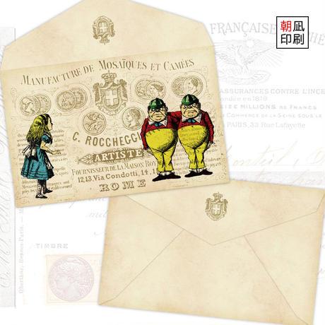 Tweedleの封筒・不思議の国のアリス