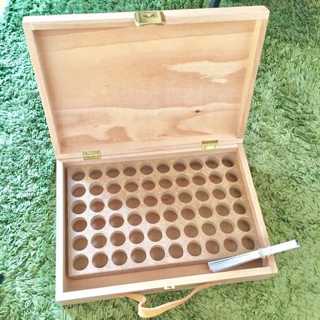 精油ボックス(60本用)プラナロム正規ロゴ入り Essential Oil Box with Pranarom logo for 60 bottles