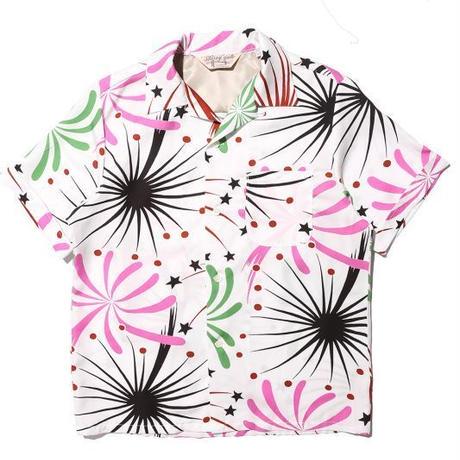 """JELADO """"BASIC COLLECTION"""" S/S Westcoast shirt(ウエストコースト シャツ) 花火柄 ホワイト [SG52113]"""