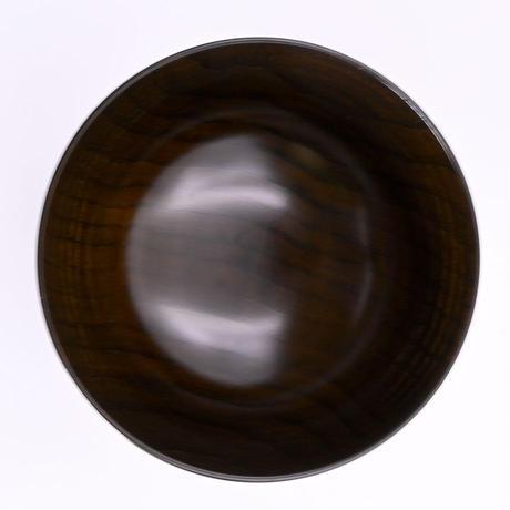 屋中健洋 |拭漆汁椀 |栗 黒拭漆