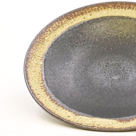 mego 牧野潤|リム豆皿|内黒マット