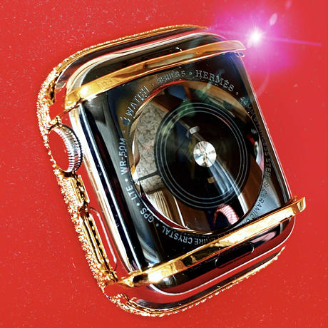 アップルウォッチ  最高級 ラージダイヤカバー シルバー