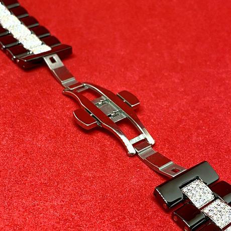 アップルウォッチ 世界限定 セラミックセンターダイヤベルト 42/44mm ブラック