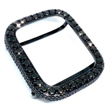 アップルウォッチ  最高級 ラージダイヤカバー メテオブラック カバー単品