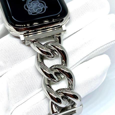 アップルウォッチ 高級チェーン ブレスレット ベルト ステンレス シルバー