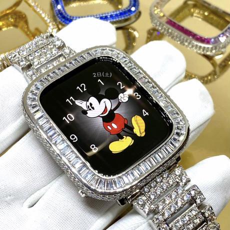 アップルウォッチ  最高級 バケットダイヤカバー シルバー カバー単品