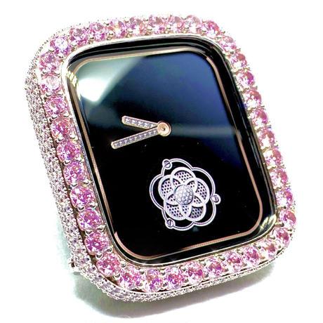 アップルウォッチ  最高級 ラージダイヤカバー ピンクダイヤ カバー単品