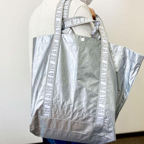 "PE ""NANDEMO"" TOTE/silver【AS A TOY】"