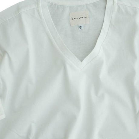 CYRLY(カーリー)   ABN SS V NECK TEE  WHITE