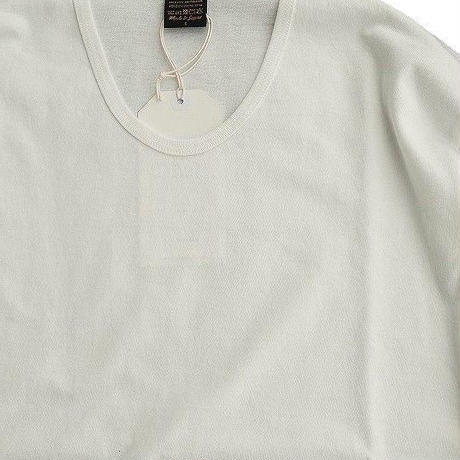 *A VONTADE(アボンタージ)   3/4 Sleeve U-Neck T-Shirts  WHITE