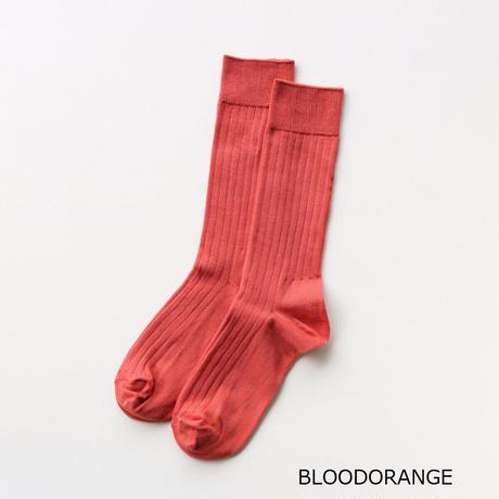 LUCKYSOCKS(ラッキーソックス)  ライトリブソックス  OFFWHITE  IVORY  GREIGE  POWDERPEACH  BLOODORANGE  RED  LIMEYELLOW