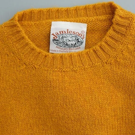 Jamieson's (ジャミーソンズ)  シェットランドセーター  MUSTARD