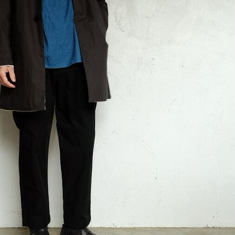 STILL BY HAND(スティルバイハンド)  cotton/nylon テーパードトラウザー   BLACK