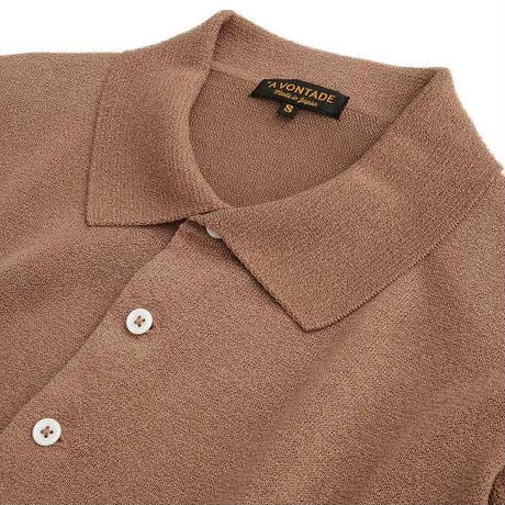*A VONTADE(アボンタージ)   Paper Knit Polo S/S   CORK