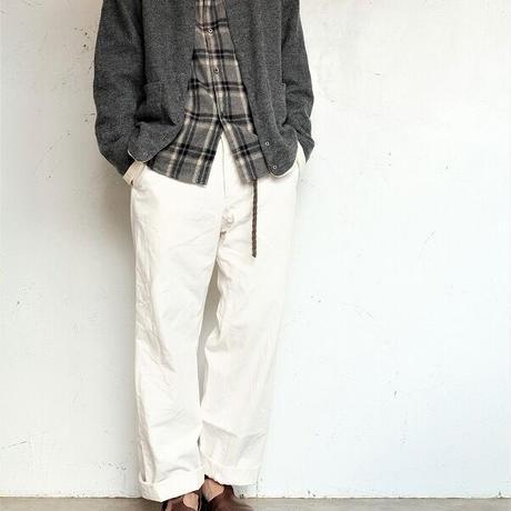 nisica(ニシカ)   ガンジーネックシャツ  GRAYCHECK
