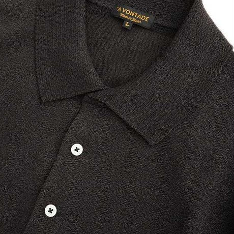 *A VONTADE(アボンタージ)   Paper Knit Polo S/S   FADE BLACK