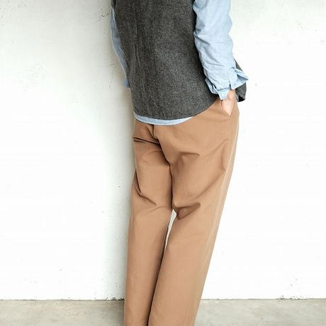 LAMOND(ラモンド)   DOUBLR WEAVE WIDE TAPERED TROUSERS   CAMELBEIGE