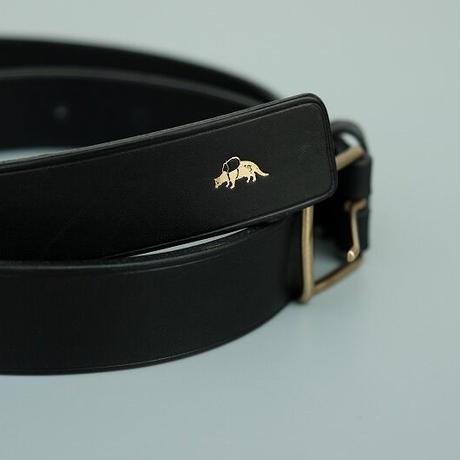 Jacou(ジャコウ) thin buckle belt    BLACK