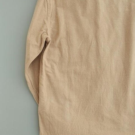 nisica(ニシカ)   ガンジーネックシャツ  BEIGE