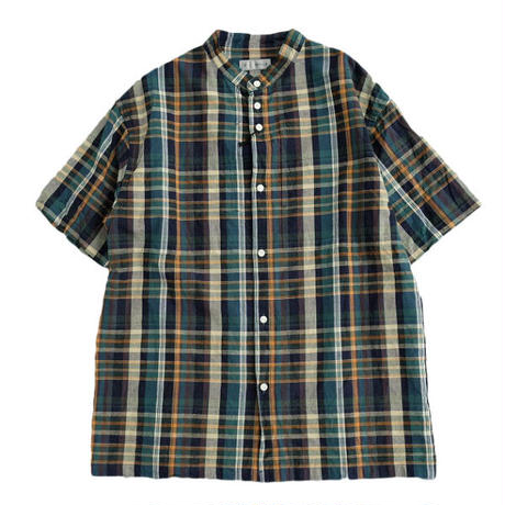nisica(ニシカ)   バンドカラーシャツ  GREEN