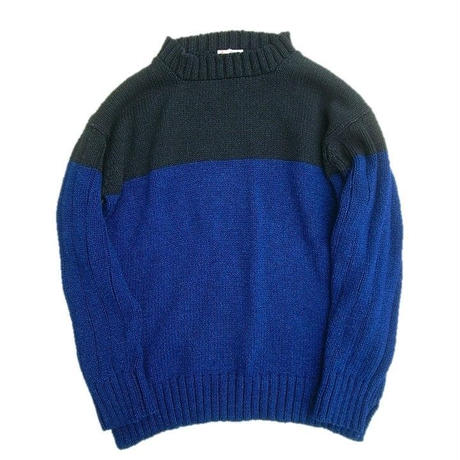 DECK HAND(デックハンド)   INDIGO COTTON KNIT    BLACKINDIGO×INDIGO