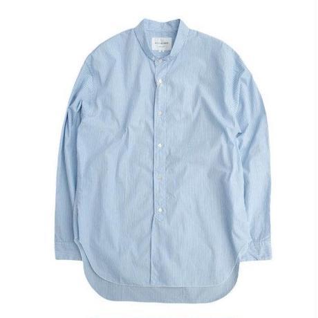 STILL BY HAND(スティルバイハンド)  スモールカラー ロングシャツ  BLUESTRIPE