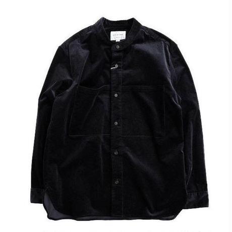 STILL BY HAND(スティルバイハンド)   コーデュロイバンドカラーシャツ  NAVY