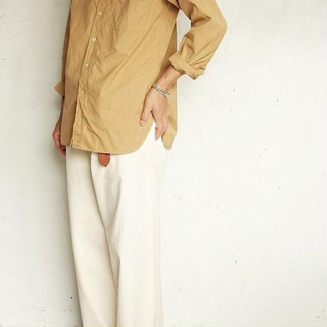 *A VONTADE(アボンタージ)   Banded Collar Shirts  BEIGE