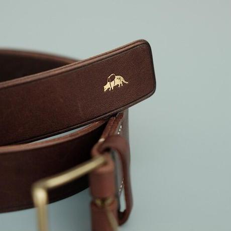 Jacou(ジャコウ) thin buckle belt    D.BROWN