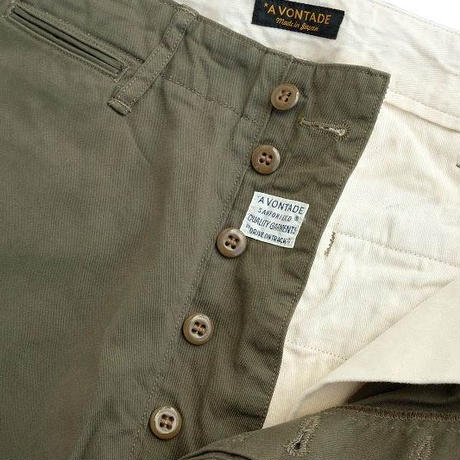 "*A VONTADE(アボンタージ)   type45 Chino Trousers -Wide Fit- ""New""  OLIVE"
