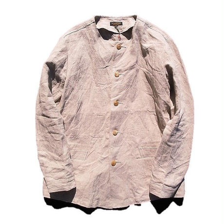 *A VONTADE(アボンタージ)     selvedge linen no collar coverall