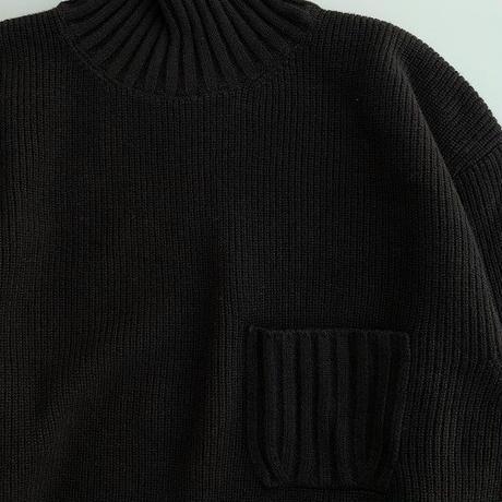 STILL BY HAND(スティルバイハンド)  ハイネックセーター  BLACK