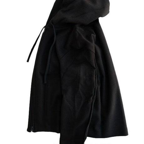 LAMOND(ラモンド)   TWILL KNIT ZIP PARKA  BLACK